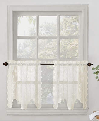 "Lichtenberg No. 918 Alison Floral Lace 58"" x 24"" Rod-Pocket Kitchen Curtain Tier Pair"