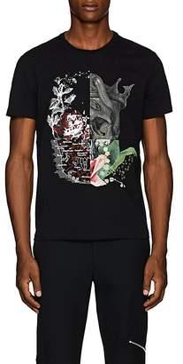 Alexander McQueen Men's Patchwork Cotton Jersey T-Shirt