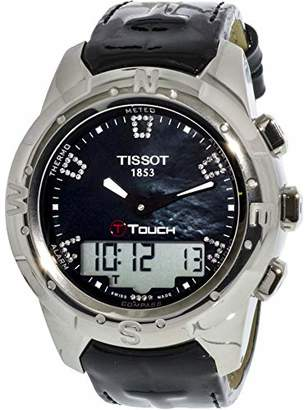 Tissot Women's T047.220.46.126.00 Mother-Of-Pearl Diamonds Index Dial Watch