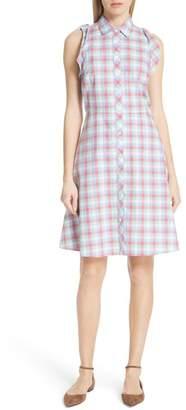 Kate Spade Madras Poplin Shirtdress