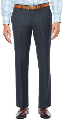 COLLECTION Collection by Michael Strahan Textured Gray Flat Front Stretch Slim Fit Suit Pants