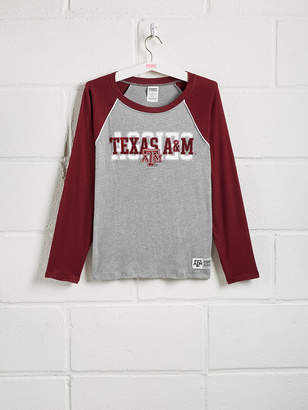 PINK Texas A&M University Sequin Bling Baseball Tee