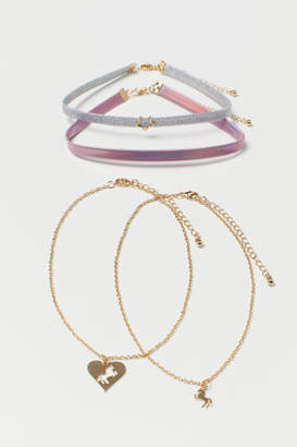 H&M 4-pack Necklaces - Gold
