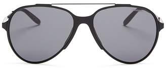 Carrera Brow Bar Aviator Sunglasses, 59mm