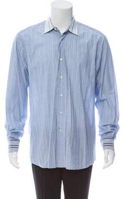 Etro Contrast Striped Button-Up Shirt