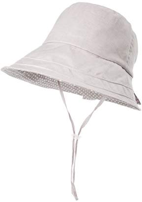 Siggi Ladies SPF50+ 100%Linen Summer Sun Bucket Packable Foldable Wide Brim Hats w/ Chin Cord Gray