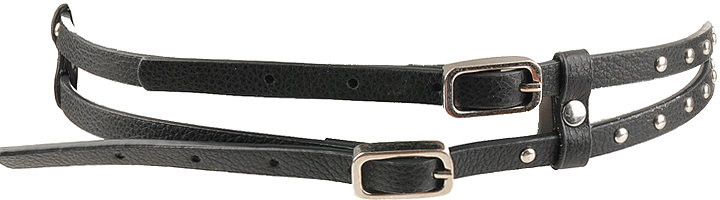 Double Strap Stud Belt