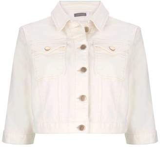 Mint Velvet Off-White Denim Western Jacket