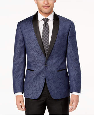 Ryan Seacrest Distinction Ryan Seacrest DistinctionTM Men's Modern-Fit Navy Paisley Dinner Jacket, Created for Macy's