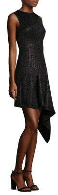 Aquilano Rimondi Metallic Asymmetric Dress