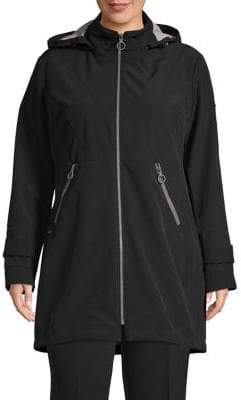 London Fog Stretch Hooded Jacket