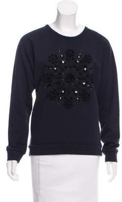 Lanvin Embellished Long Sleeve Sweatshirt