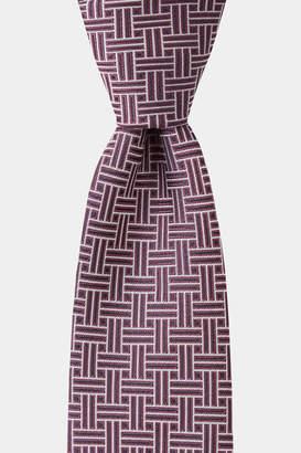 DKNY Purple Retro Geometric Tie