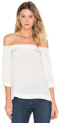 Trina Turk Kandis Off Shoulder Top $228 thestylecure.com