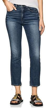 3x1 Women's W3 High-Rise Straight Authentic Crop Jeans - Md. Blue