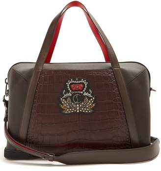Christian Louboutin Bagdamon Leather Holdall - Mens - Dark Brown
