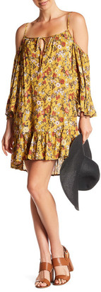 En Creme Printed Bell Sleeve Dress $54 thestylecure.com