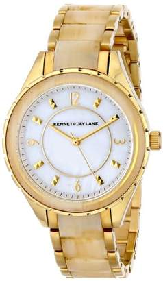 """Kenneth Jay Lane Women's 2242 """"2200 Series"""" Stainless Steel and Horn Resin Watch"""