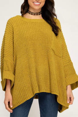 She & Sky OVERSIZED CHENILLE KNIT SWEATER