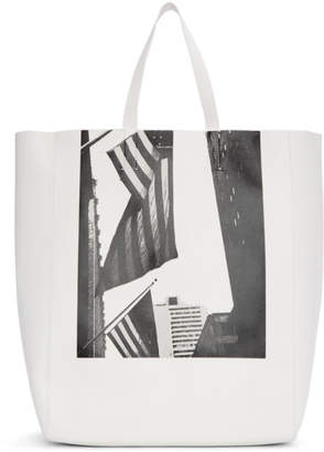 Calvin Klein White Soft Andy Warhol Tote
