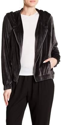 Splendid Wedge Velour Hooded Jacket