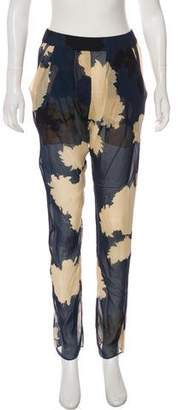 3.1 Phillip Lim Silk Printed High-Rise Pants
