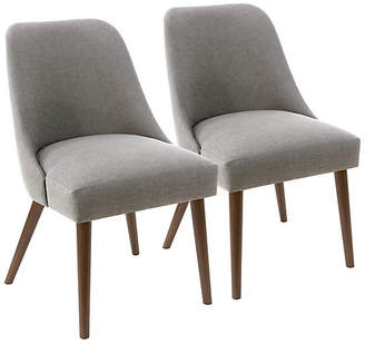 One Kings Lane Set of 2 Barron Side Chairs - Gray