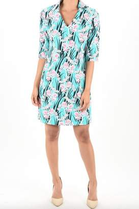 Aryeh Print Collar Dress
