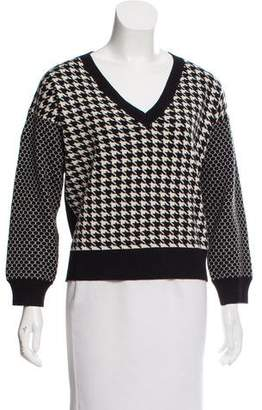 Mason Houndstooth Print Sweater