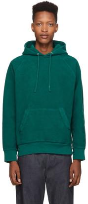 Saturdays NYC Green Reverse Fleece Ditch Hoodie