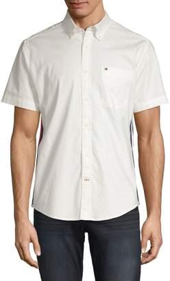 Tommy Hilfiger Custom-Fit Short-Sleeve Button-Down Shirt