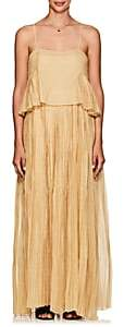 Thierry Colson Women's Salome Cotton-Silk Maxi Dress - Gold
