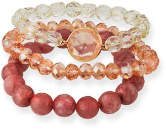 Lydell NYC Beaded Stretch Bracelets, Set of 3