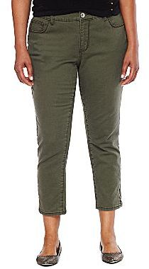JCPenney a.n.a® Ankle-Zip Skinny Jeans- Plus