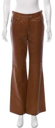 Ralph Lauren Flared Leather Pants