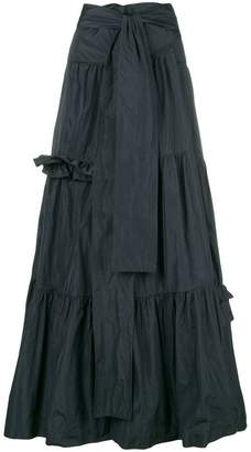P.A.R.O.S.H. frilled flared skirt