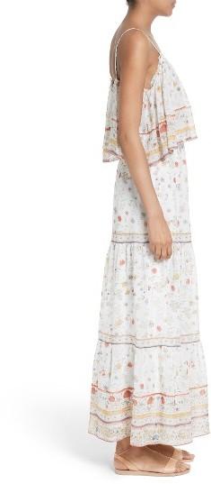 Women's Joie Vernita Popover Bodice Silk Maxi Dress 4
