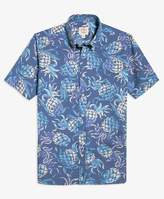 Brooks Brothers (ブルックス ブラザーズ) - Red Fleece コットンポプリン パイナップルプリント ショートスリーブ スポーツシャツ