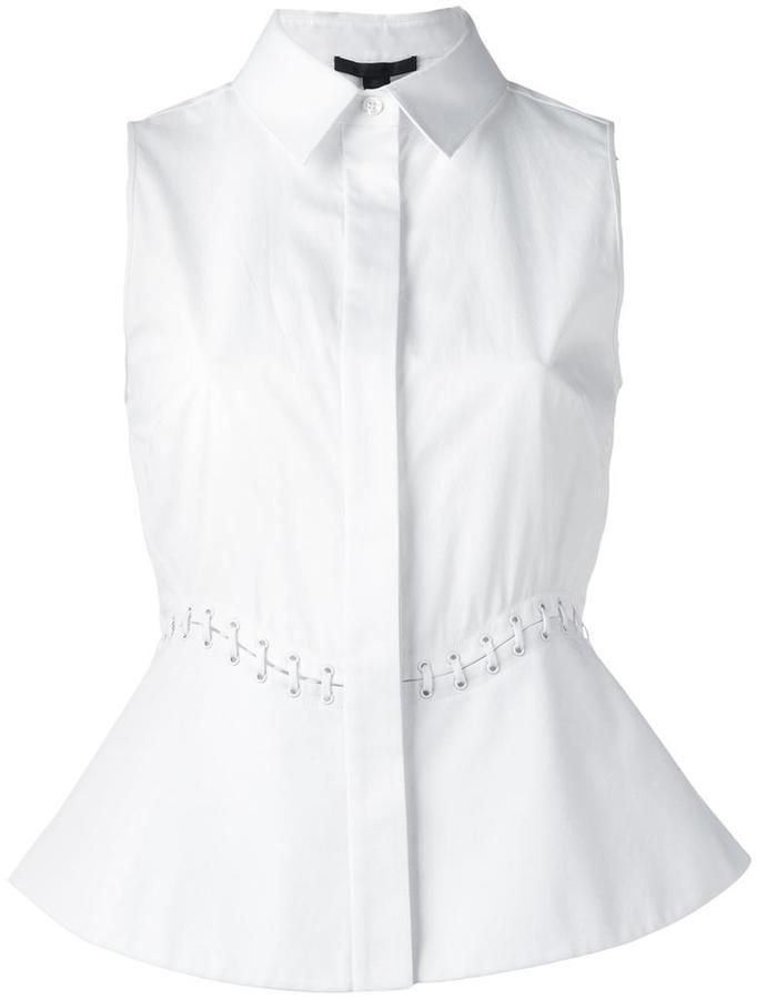 Alexander WangAlexander Wang lace-up detail sleeveless blouse