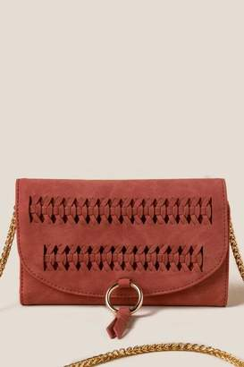 francesca's Carys Whipstitch Wallet Crossbody - Rust