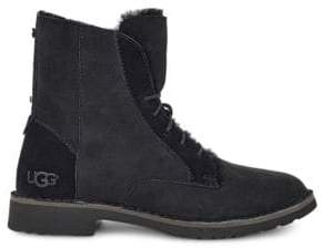 UGG Quincy Shearling-Trimmed Lace-Up Boots
