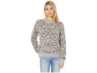 CeCe Long Sleeve Pullover Boucle Sweater
