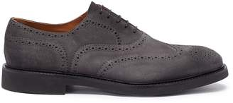 Doucal's 'Point' suede brogue Oxfords