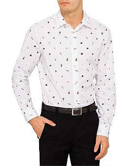 Paul Smith Poplin Charm Print Shirt