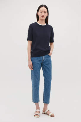 Cos SHORT-SLEEVED KNITTED TOP