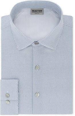 Kenneth Cole Reaction Men's Techni-Cole Slim-Fit Three-Way Stretch Performance Geometric Dress Shirt