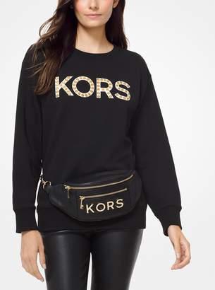 MICHAEL Michael Kors Embellished French Terry Sweatshirt