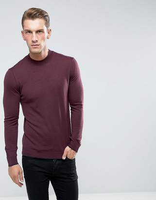 Benetton Jumper With High Neck In 100% Merino