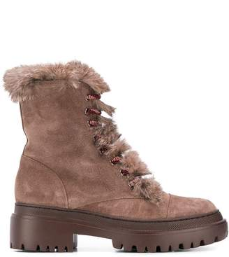 Pollini suede hiking boots
