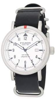 Filson Stainless Steel Leather Strap Watch